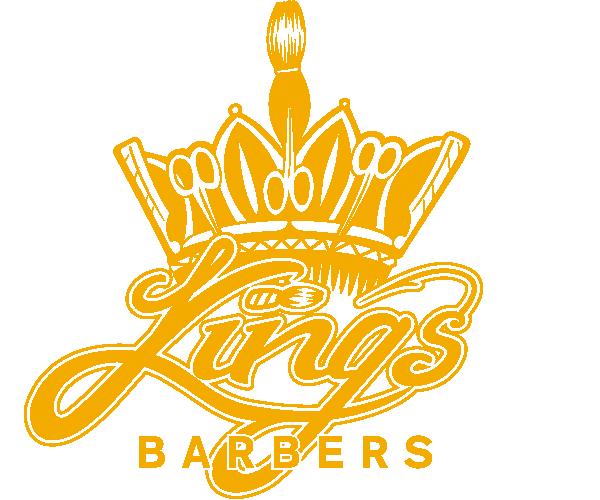 Logo kingsbarbers goud