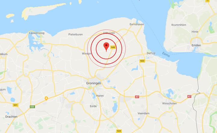 Normal aardbeving westerwijtwerd