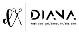Diana hairdesign logo zwart witte2 achtergrond rgb 01
