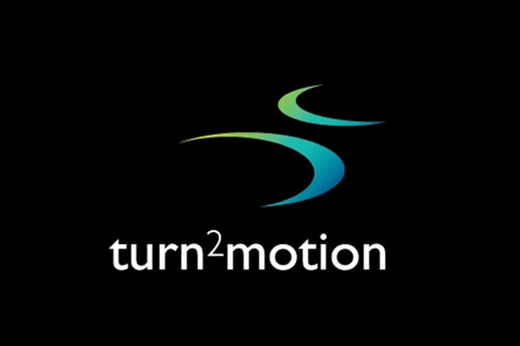 Logo turn2motion blokvorm