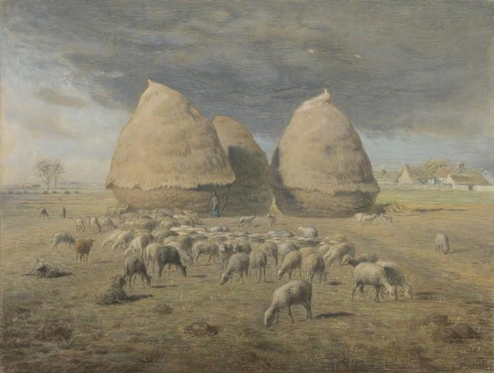 Normal jean franois millet de hooibergen 1867 1868 de mesdag collectie den haag