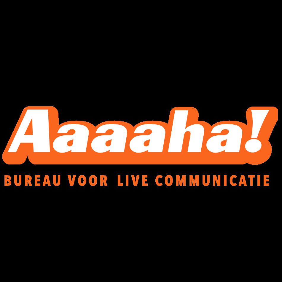 Aaaaha bureau voor live communicatie logo