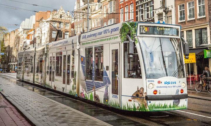 Normal groene tram