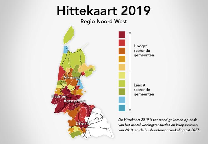 Normal bpd hittekaart 2019 regio nw