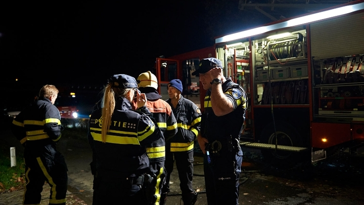 Normal nachtelijke inzet politie en brandweer