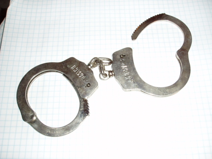 Normal police handcuffs