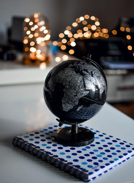 Normal black and gray desk globe 1236421