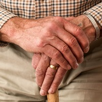 Thumbnail hands walking stick elderly old person