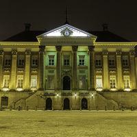 Thumbnail stadhuis van groningen bij avond