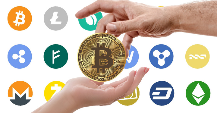 Normal cryptocurrency logos