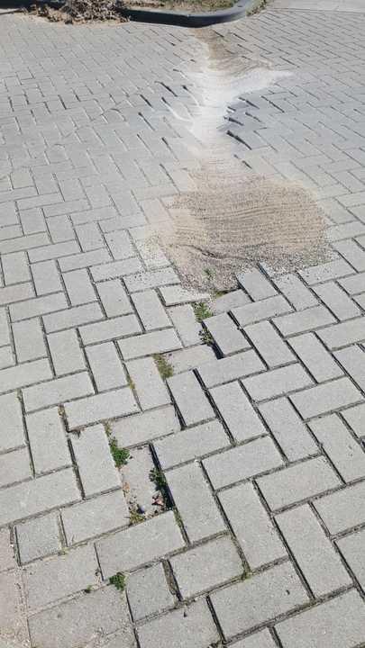 Normal verzakten straat stenen