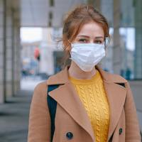 Thumbnail woman wearing face mask 3902881