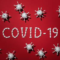 Thumbnail concept of covid 19 in red background 4031867