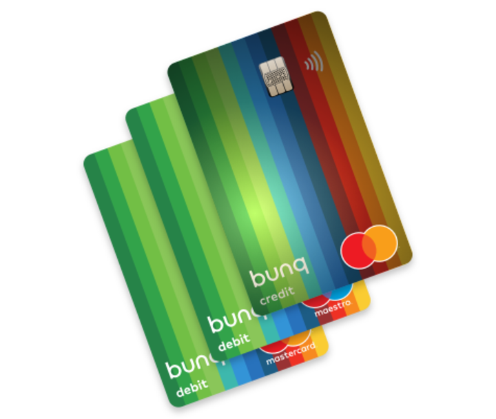 Normal bunq maestro mastercard and travel card