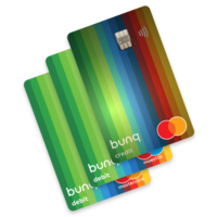 Thumbnail bunq maestro mastercard and travel card