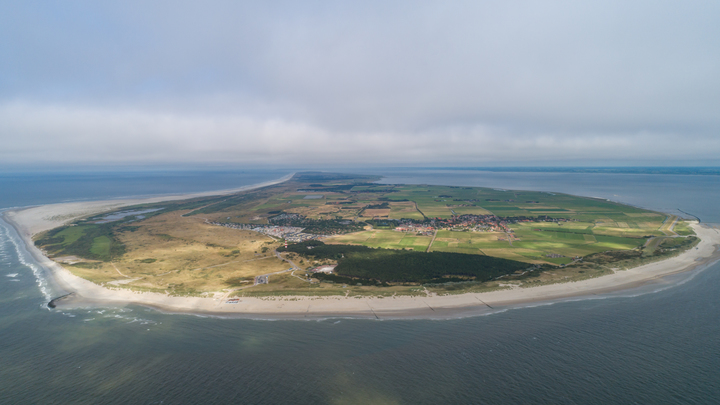 Normal ameland aerial view from the west