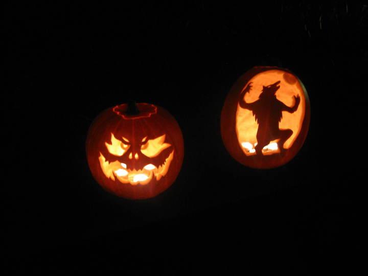 Normal carved pumpkins