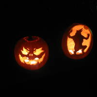 Thumbnail carved pumpkins