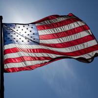 Thumbnail us flag backlit